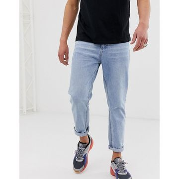 Religion cropped tapered fit jean in rigid denim