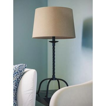 York 1-light Twisted Bronze Table Lamp