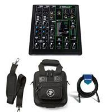 Mackie ProFXv3 6-Channel Professional Effects Mixer with USB + Software Bundle - Bundle With Mackie Carry Bag for ProFX6v3 Mixer, 20' Heavy Duty 7mm Rubber XLR Microphone Cable