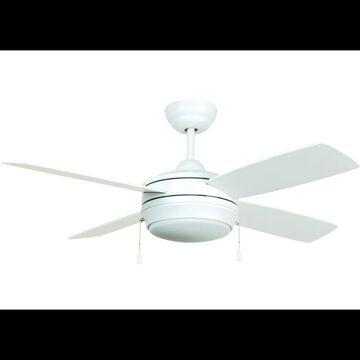 "Craftmade LAV444LK-LED Laval 44"" 4 Blade Ceiling Fan - Blades and LED Light Kit Included Matte White Fans Ceiling Fans Indoor Ceiling Fans"
