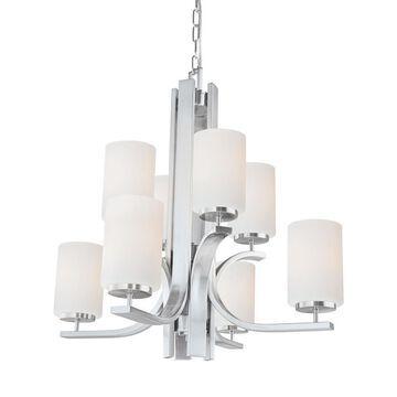 Thomas Lighting Pendenza 8-Light Brushed Nickel Transitional Chandelier   TK0008217