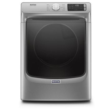 Maytag 7.3-cu ft Front Load Stackable Vented Electric Dryer with Extra Power - Metallic Slate