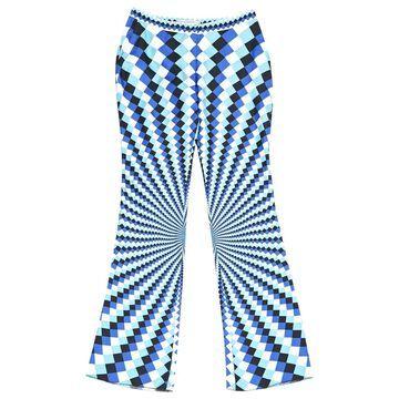 Mary Katrantzou Blue Silk Trousers
