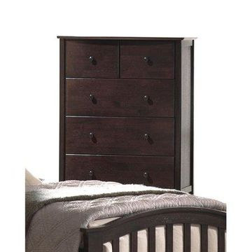 Acme Furniture San Marino Dark Walnut Chest with Five Drawers