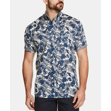 Men's Floral Leaf Printed Shirt