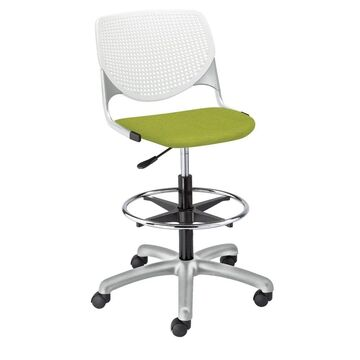 KFI KOOL Drafting Stool, Upholstered Seat (Avocado)