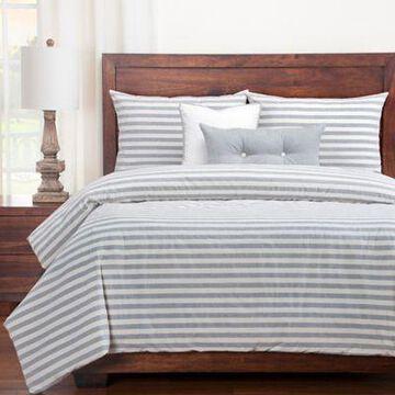 SISovers Farmhouse Full Duvet Cover Set in Grey/White