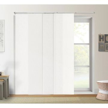 Chicology Daily White Adjustable Cut to Length Light Filtering Privacy Sliding Panels - Up to 80