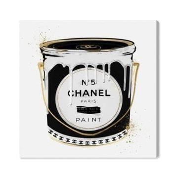 """Oliver Gal Fashion Paint Noir Canvas Art - 12"""" x 12"""" x 1.5"""""""