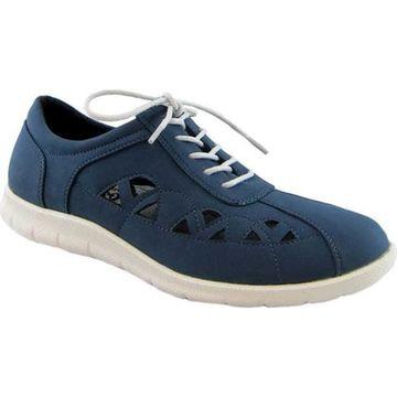 Beacon Shoes Women's Toby Sneaker Navy Lamy Polyurethane