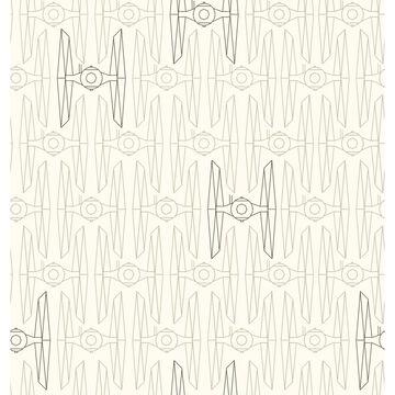 Star Wars Tie Fighter Peel and Stick Wallpaper Tan - RoomMates