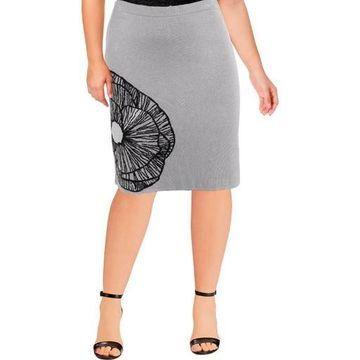 Anne Klein Womens Printed Floral Pencil Skirt