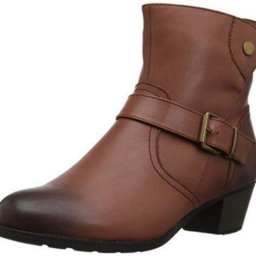 Propet Women's Tory Ankle Bootie, Brown, 6 M US