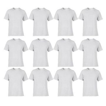 ''Gildan Classic Fit Mens Small Adult Performance T-Shirt, White (12 Pack)''