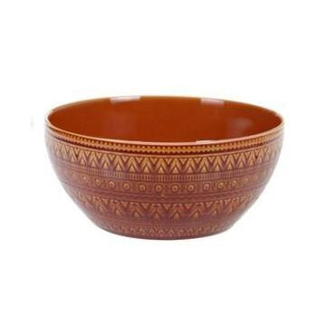 Certified International Aztec Rust Deep Bowl