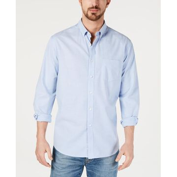 Club Room Men's Solid Stretch Oxford Cotton Shirt, Created for Macy's