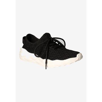 Women's Badrika Sneakers by J. Renee in Black Knit (Size 10 1/2 M)