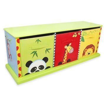Teamson Fantasy Fields Sunny Safari 3-Drawer Storage Cubby