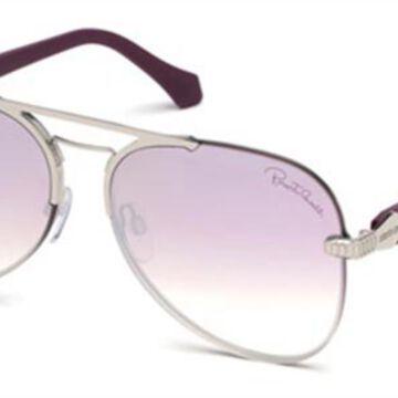Roberto Cavalli RC 1091 16U Men's Sunglasses Silver Size 60