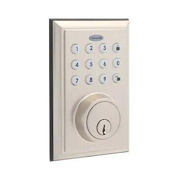 Honeywell 8812309S Smart Door Locks Digital Deadbolt Bluetooth Door Lock, Satin Nickel   Quill