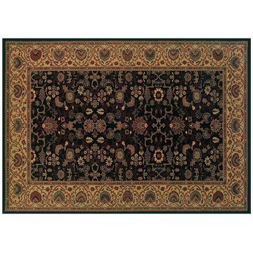 Couristan Everest Tabriz Framed Floral Rug, Multicolor, 8Ft Sq