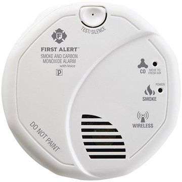 First Alert Interconnected Smoke & Carbon Monoxide Alarm With Voice & Location