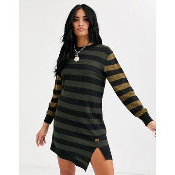 G-Star stripe dress-Black