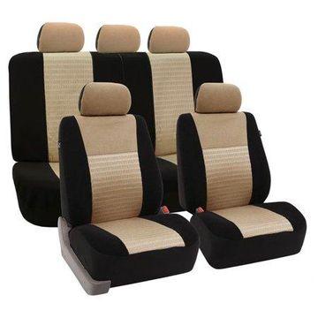 FH GROUP Trendy Elegance Full Set Seat Covers with bonus Air Freshener