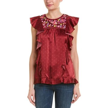 Figue Womens Marion Silk Top
