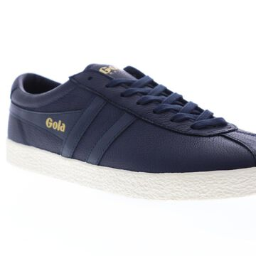 Gola Trainer Mens Blue Leather Retro Lace Up Low Top Sneakers Shoes