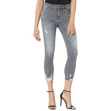 KUT from the Kloth Petite Connie High-Rise Ankle Skinny w/ Raw Hem in Braver