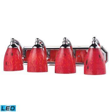 Westmore Lighting Homestead 4-Light Chrome Traditional Vanity Light Bar