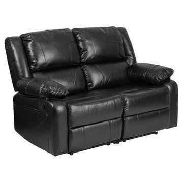 Flash Furniture Harmony Series Black Leather Reclining Loveseat