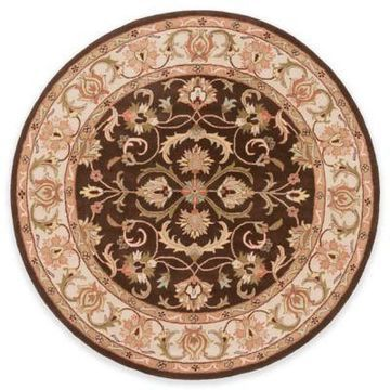 Artistic Weavers Oxford Aria 8-Foot Round Area Rug in Brown