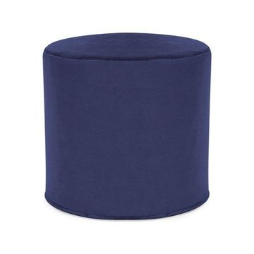 Howard Elliott Bella No Tip Cylinder Ottoman, Royal Blue