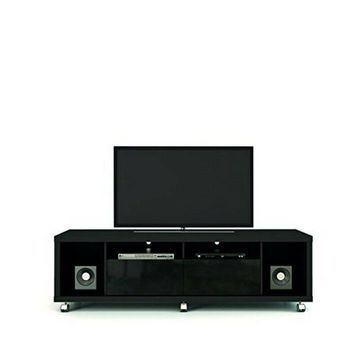 Manhattan Comfort 15413 Cabrini 1.8 TV Stand- Black NEW