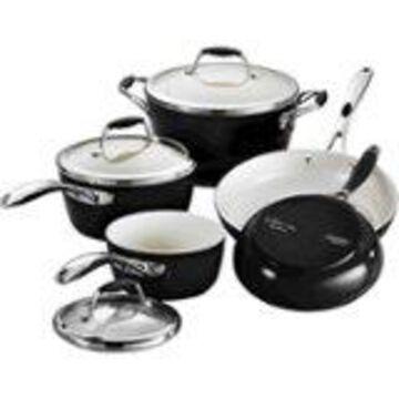Tramontina - Gourmet Ceramica Deluxe 8-Piece Cookware Set - Metallic Black