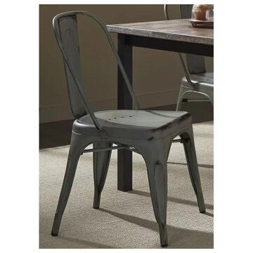 Liberty Furniture Vintage Series Bow Back Side Chair, Green