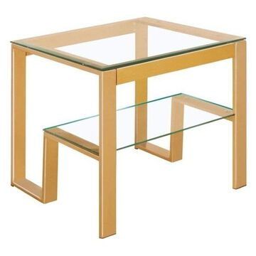 Furniture of America Ayetti Square End Table in Gold