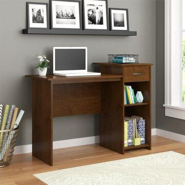Mainstays Student Desk with Easy-glide Drawer, Northfield Alder Finish