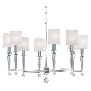 Crystorama Paxton 8 Light Chandelier, Polished Nickel