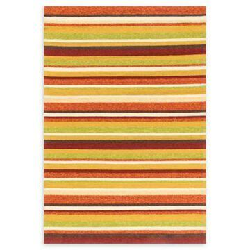 Loloi Rugs Venice Beach 5' x 7'6 Striped Indoor/Outdoor Area Rug in Sunset