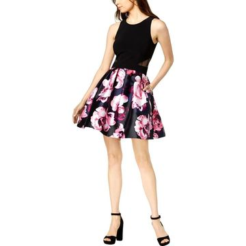 Xscape Womens Cocktail Dress Printed Floral