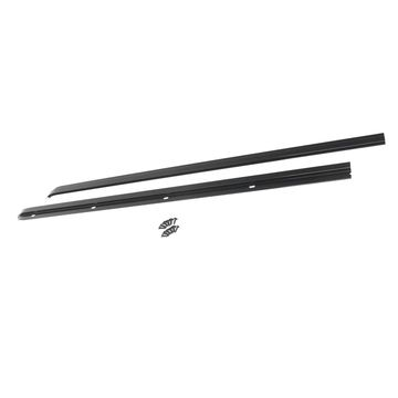 Rampage 901001 Windshield Channel; Black;