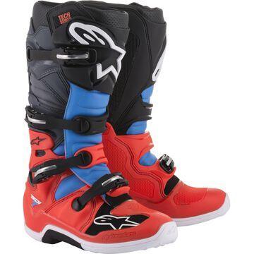 Alpinestars Tech 7 Boots Red/Grey/Black Sz 7
