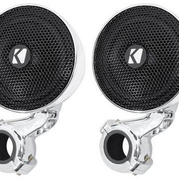 Pair Kicker 40PSM34 PSM3 Waterproof Motorcycle/ATV Handlebar Speakers - 4-Ohm