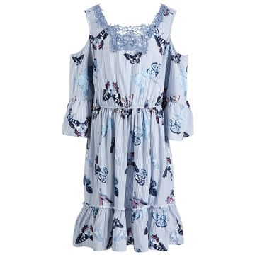 Big Girls Butterfly-Print Dress, Created for Macy's