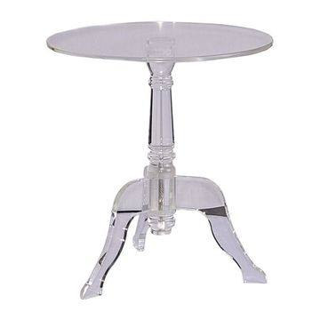 Linon Acrylic End Table
