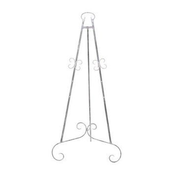 Decmode 46 Inch Traditional Iron Gray Scrolled Easel