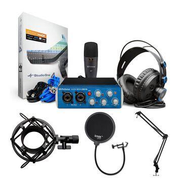 PreSonus AudioBox 96 Studio USB 2.0 Recording Kit with Studio Stand and More